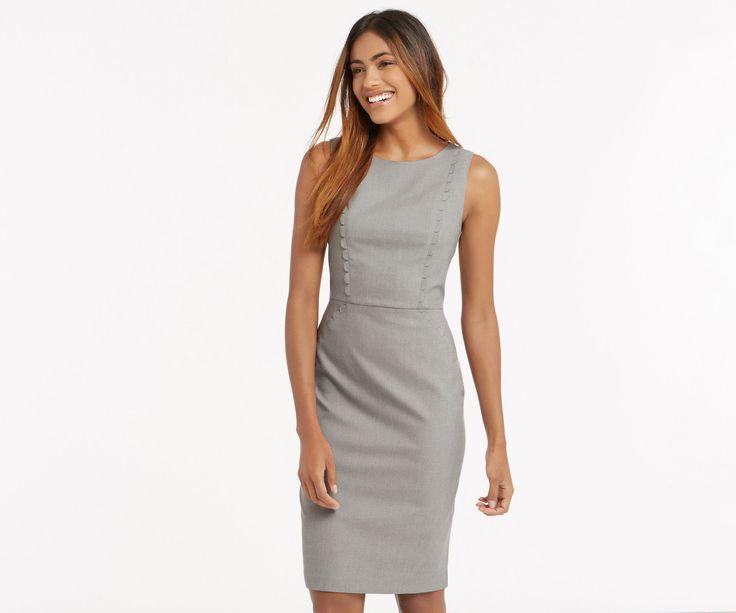 Oasis, CLARA WORKWEAR DRESS Mid Grey 1
