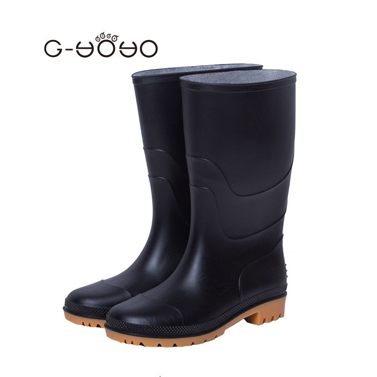 54.69$  Buy here - http://alipwq.shopchina.info/1/go.php?t=32807550665 - G-YOYO Rubber Rain Boots Men Winter Fishing Boots High Water Shoes Pvc Gummistiefel Rainboots Flat Anti-slip Size 40,41   #magazineonline