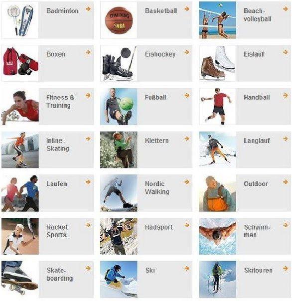 Виды спорта на немецком