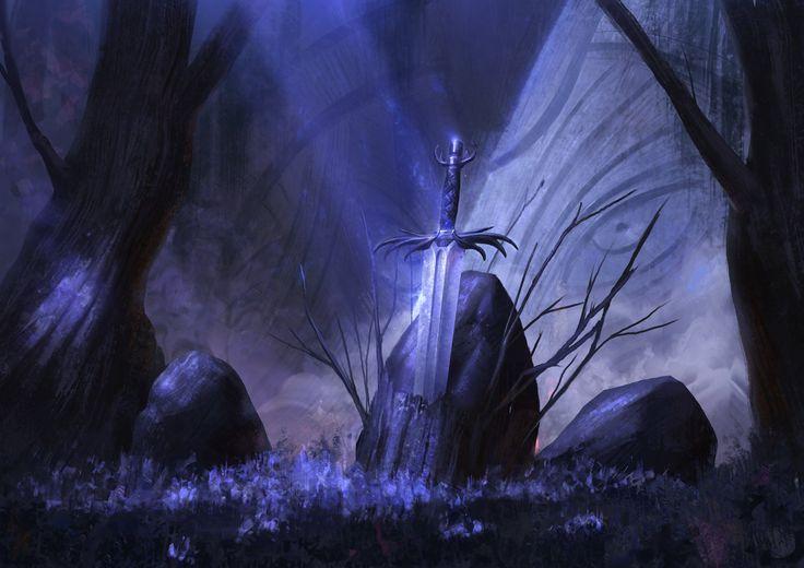 Sword if Midnight, Even Amundsen on ArtStation at https://www.artstation.com/artwork/rAe2