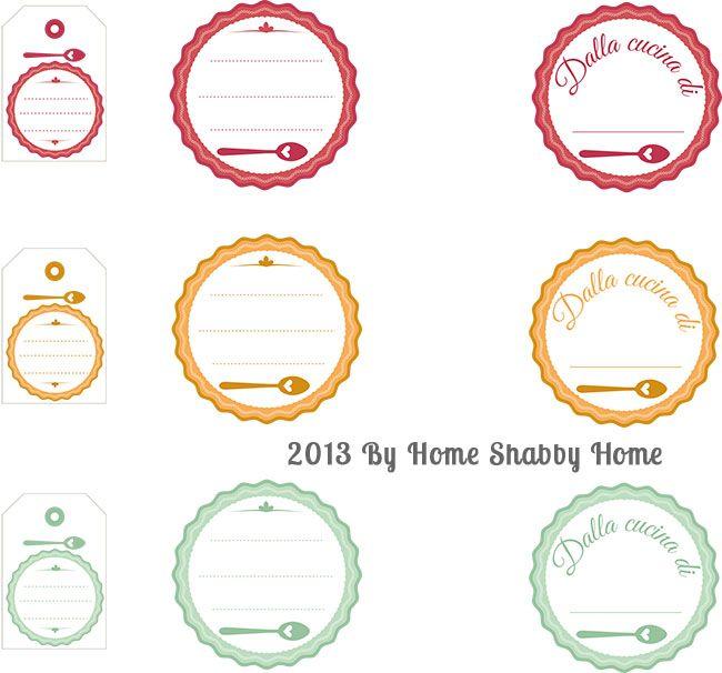 Home Shabby Home{Free Printables}: Etichette per marmellate e conserve