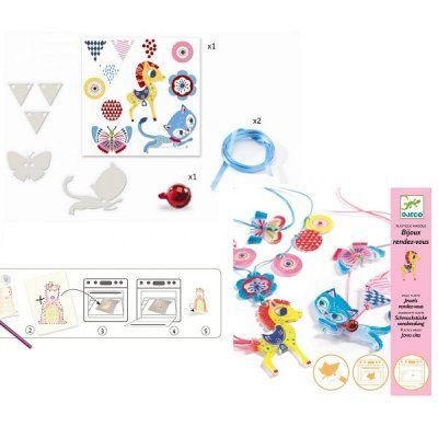 Djeco Magisch Plastic Kat en paard sieraden maken