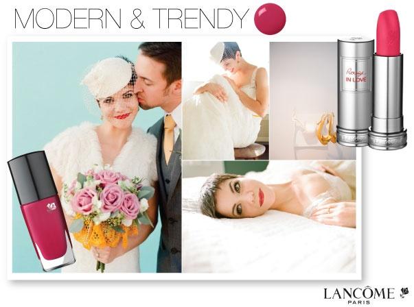 Modern & Trendy by Lancome. http://www.lancome-usa.com/on/demandware.store/Sites-lancome_us-Site/default/Page-Show?cid=pinterest-wedding-contest