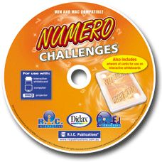 Numero Challenges Interactive CD. There are challenges for each level of Numero®, allowing teachers to set the appropriate level of challenge for individual students with a guarantee of at least one level of wild cards in every challenge.