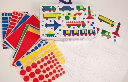 Caja gomets para niños