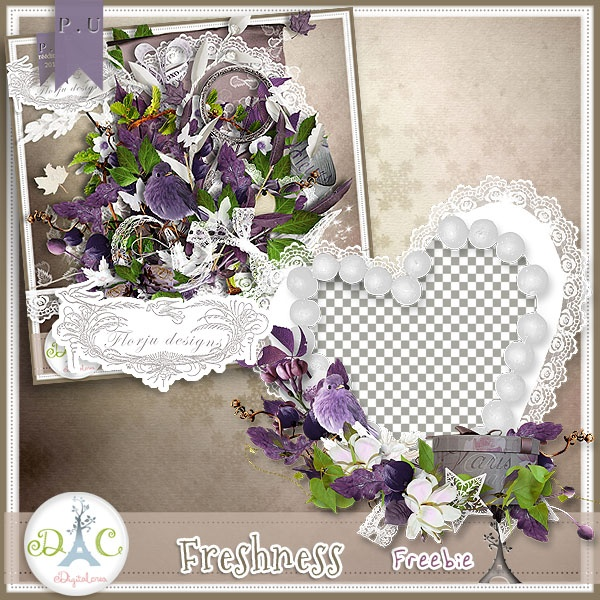 Freebie Freshness, 1 cluster by Florju designs