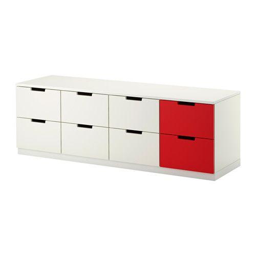 IKEA - NORDLI, Komoda, 8 zásuviek, , Môžete použiť jednu modulárnu komodu alebo ich  niekoľko skombinovať a vytvoriť si úložné riešenie, ktoré perfektne zapadne do vášho úložného priestoru.Vytvorte si vlastný dizajn skombinovaním komód v rôznych farbách.Zásuvka sa vďaka vstavaném tlmiču zatvára pomaly, potichu a jemne.Nastaviteľné nohy vyrovnajú nerovnosti podlahy.