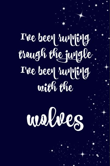 Lyric wallpaper Selena Gomez and Marshmello with Wolves