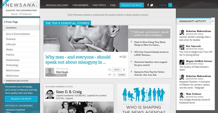 New Community Curation Platform For Quality Minds To Share Quality Content: Newsana