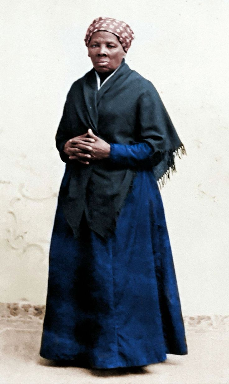 Harriet Tubman portrait colorized. C. 1885