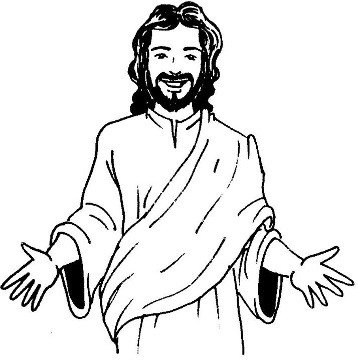 Image Result For Blackline Drawings Of Jesus Coloring Pagescolouring Easter Pages To Color