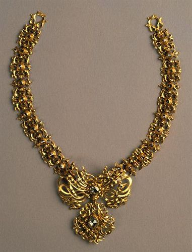 Portuguese Necklace - gold and diamonds. Eighteenth century.