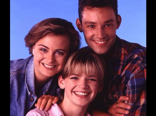 Toby Anstis, Zoe Ball and Philippa Forrester ~ 1994. Not sure if it was cos i turned 16 in '94 or cos i wasn't keen on Toby or Zoe (the latter!) that i stopped watching CBBC almost altogether