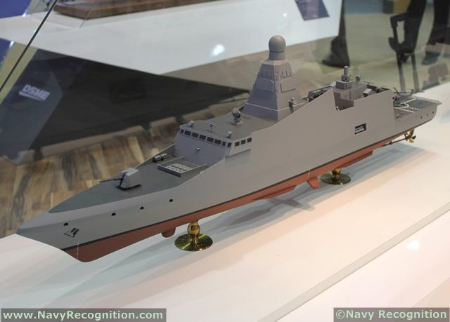 DW 3000H Frigate as displayed on DSME stand during Euronaval 2012 - Proposed to meet Royal Thai Navy requirements