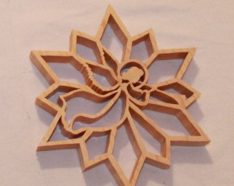 Scroll Saw Pattern:  Dove Snowflake от ClaytonsPatterns на Etsy