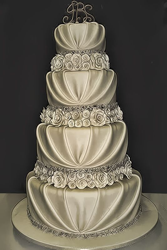 10 Pretty, Romantic Wedding Cakes