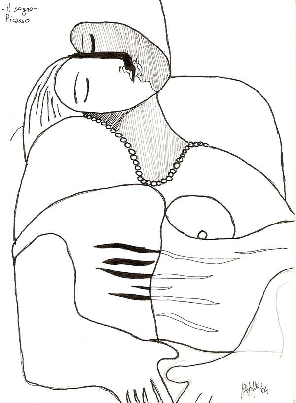 """Picasso """"Il sogno"""" - mdm"""