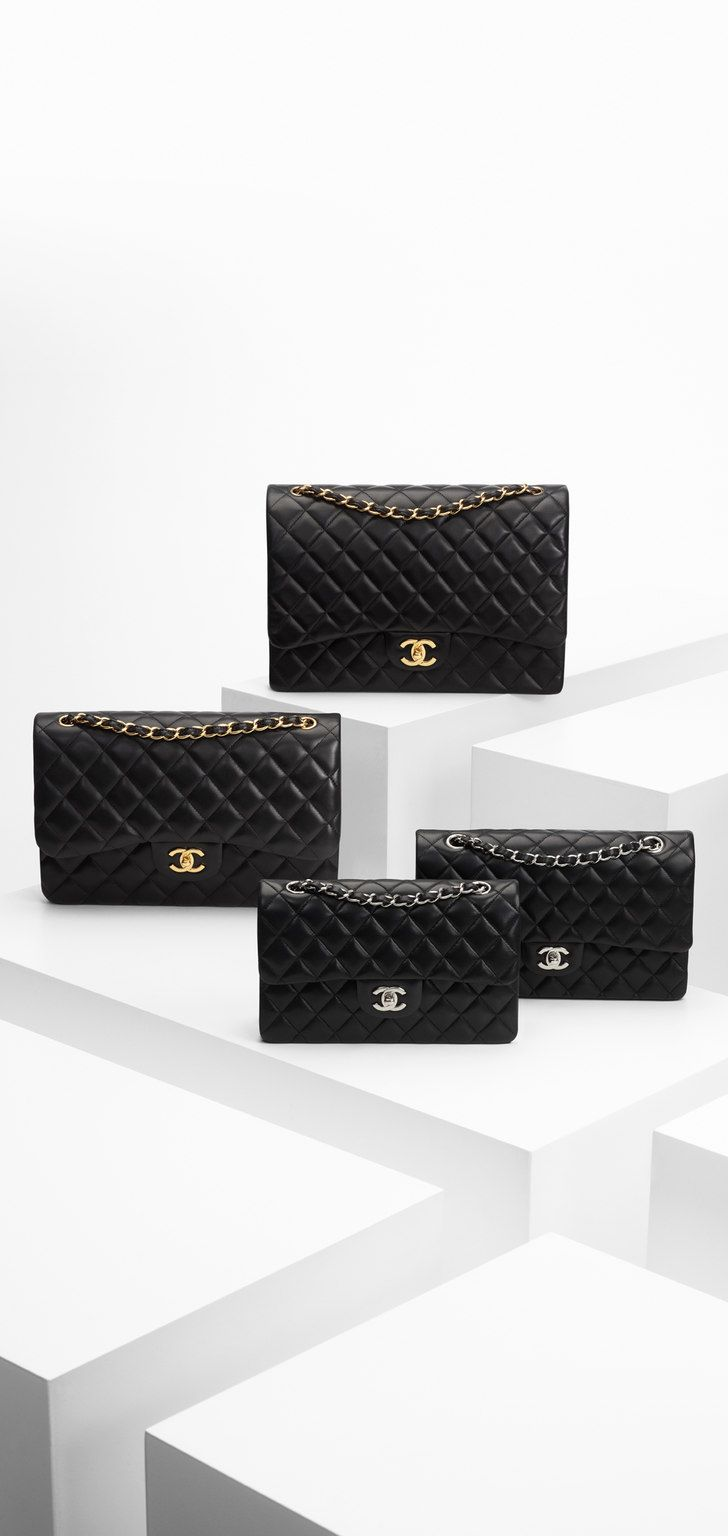 10  images about chanel mini flap bag in black on pinterest