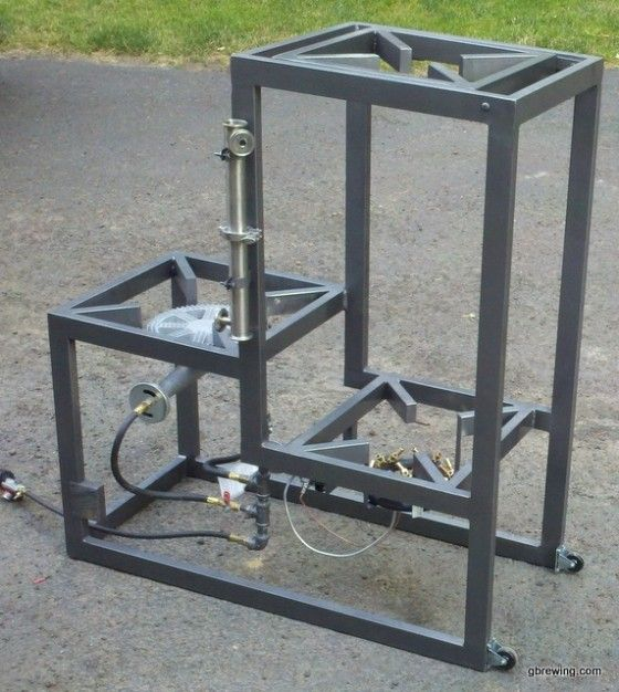 3 Tier Homebrew System With Pump Brewing Stand Is