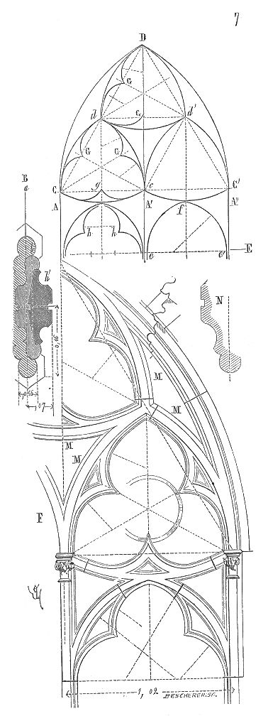 Meneaux fenetre eglise Saint Nazaire Carcassonne