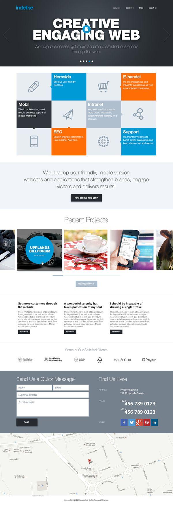 Indell Web Studio by Capcan , via Behance