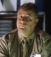 Captain Hollister was the Captain of Red Dwarf. It was he who sentenced Lister to 18 months in stasis.