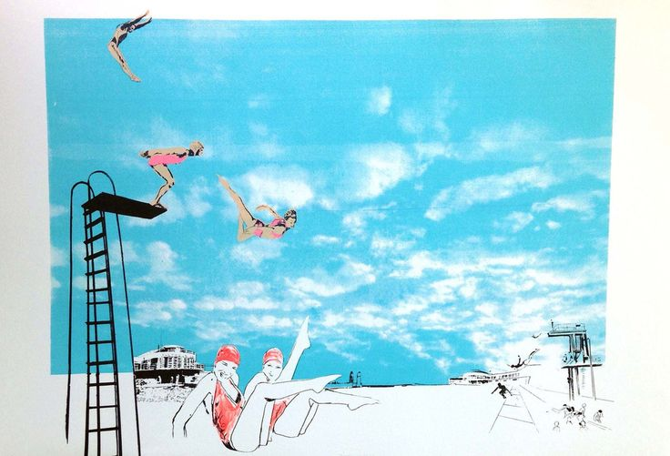 Anna Marrow - 'Meanwhile at the Lido' – Gas Gallery - Beautiful Art & Design