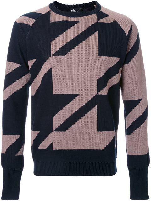 KOLOR patterned jumper. #kolor #cloth #图案毛衣