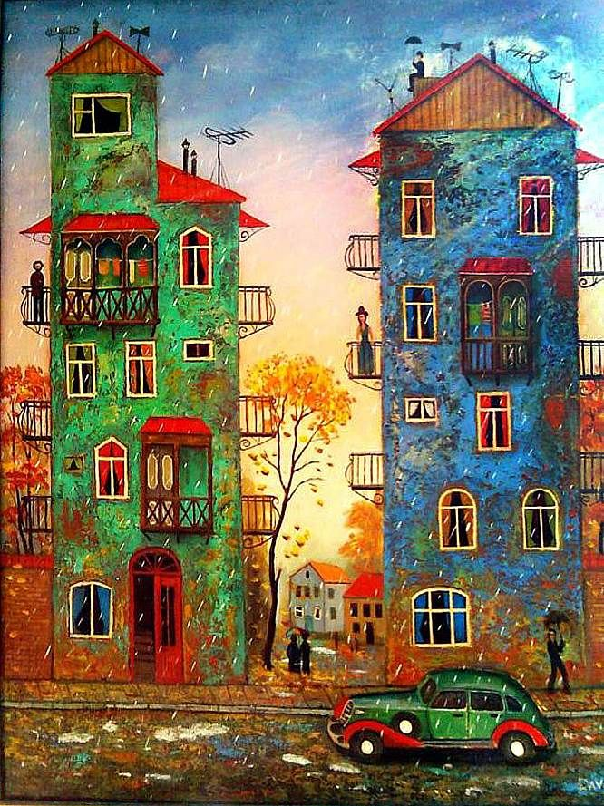 Rainy evening, by David Martiashvili.