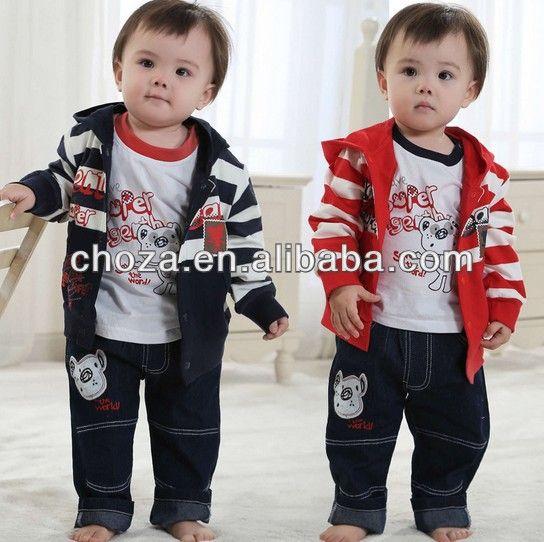 c51860s el último diseño de moda casual raya conjunto para los niños--Identificación del producto:1595700206-spanish.alibaba.com