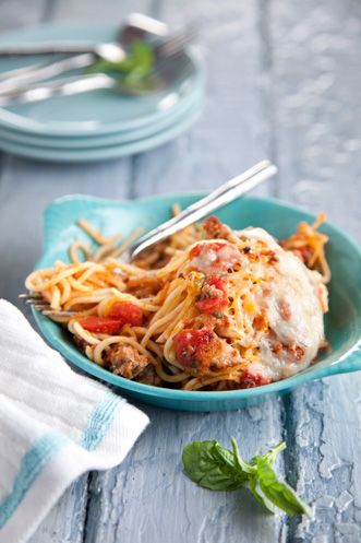 Paula Deen Dora's Baked Spaghetti - The only thing I do different is use whatever meat I have on hand.