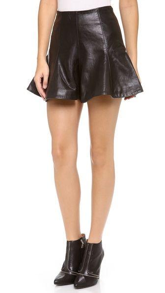 Bec & Bridge Haku Leather Skirt