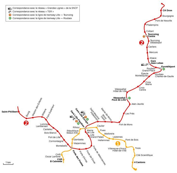 El #Metro de #Lille es un sistema de trenes subterráneos que pertenece a Transpole, y se encuentra ubicado en la ciudad de Lille en Francia. Compuesto por dos líneas que suman un total de 60 estaciones, se conecta con el aeropuerto vía un autobús lanzadera. Los trenes se controlan sin conductor, es una de las redes de trenes automáticos más grandes de Europa. Las tarifas del metro pueden ser pagadas con tickets o con suscripciones mensuales. Hay planes para extender el sistema en el 2020…