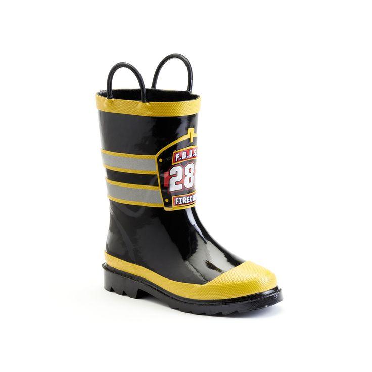 Western Chief F.D.U.S.A. Toddler Boys' Rain Boots, Boy's, Size: 9 T, Black