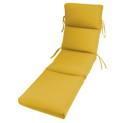 Beachcrest Home Outdoor Sunbrella Chaise Lounge Cushion Fabric: Sunflower