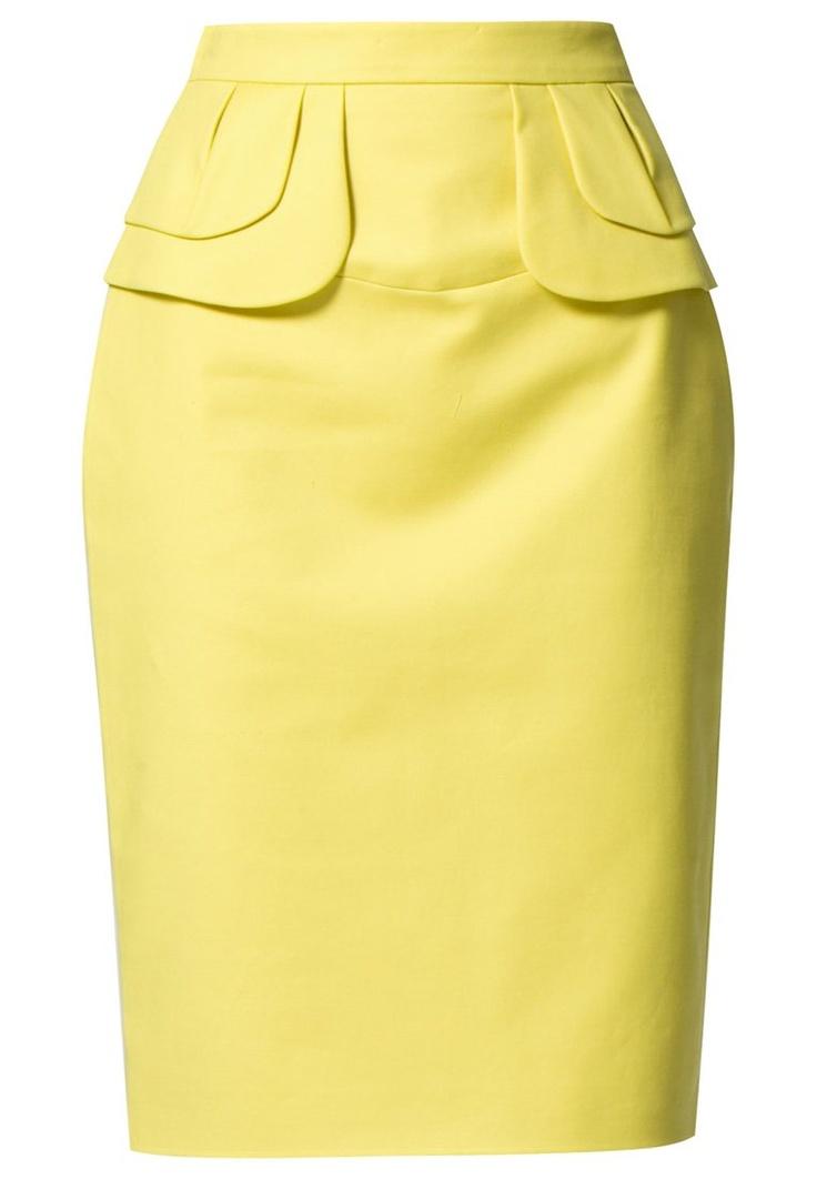 Prachtig gele kokerrok van Karen Millen @ Zalando ♥ Geel