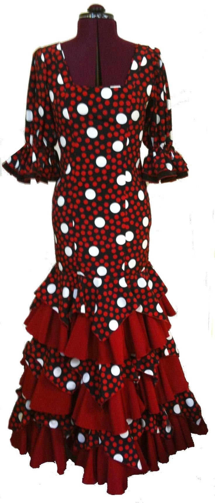 Custom Flamenco Dresses Black/Red
