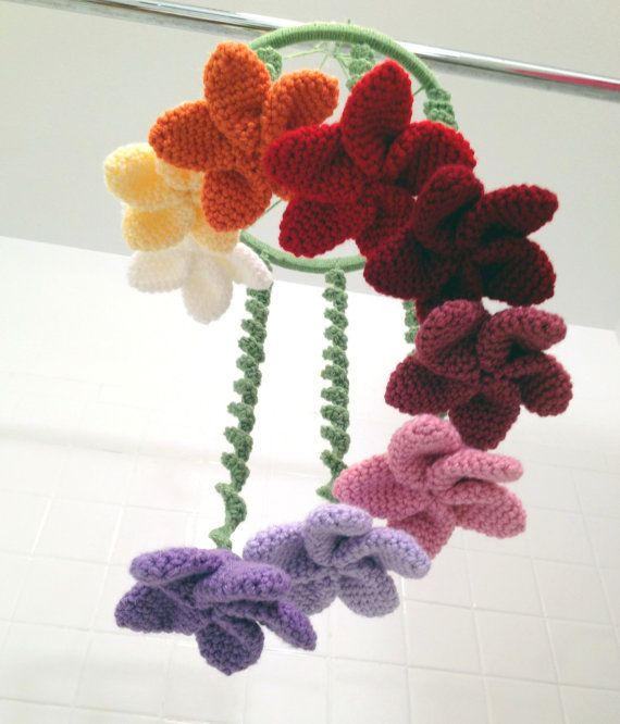 Crochet baby mobile with flowers by DSDesignsHandmade