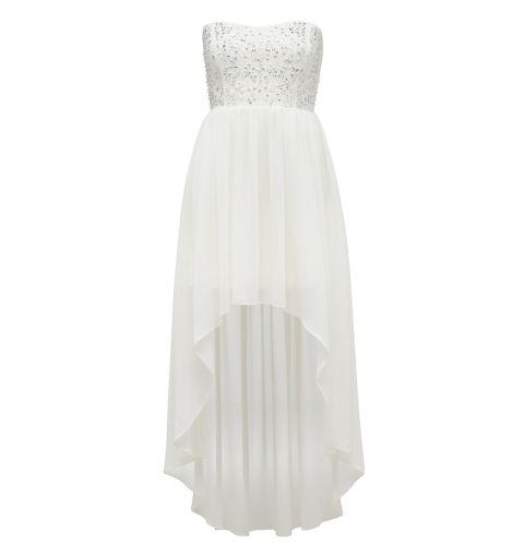 Judy embellished bodice hi-lo dress - Forever New