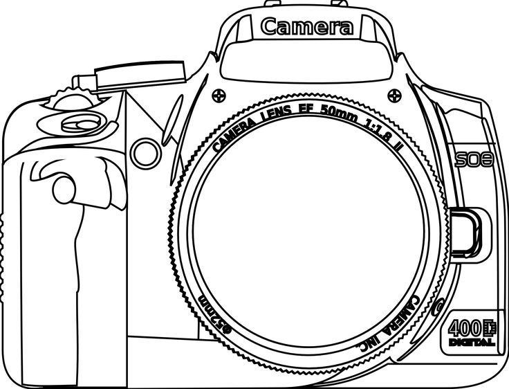camera coloring pages - photo#20