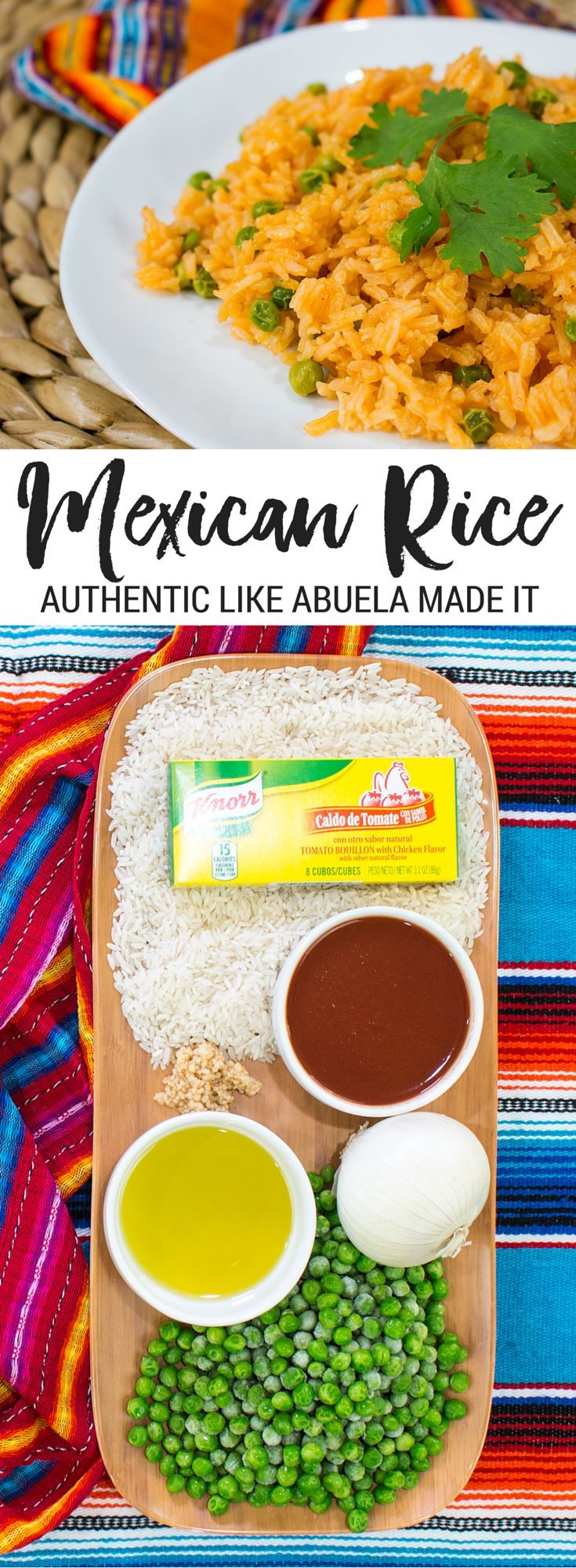 Make this easy, flavorful Arroz Rojo recipe using Knorr Bouillon. Get the full recipe and see the tutorial video for the best Mexican Rice recipe. made in partnership with Knorr and Walmart by Jennifer Priest. #SaboreaTuVerano