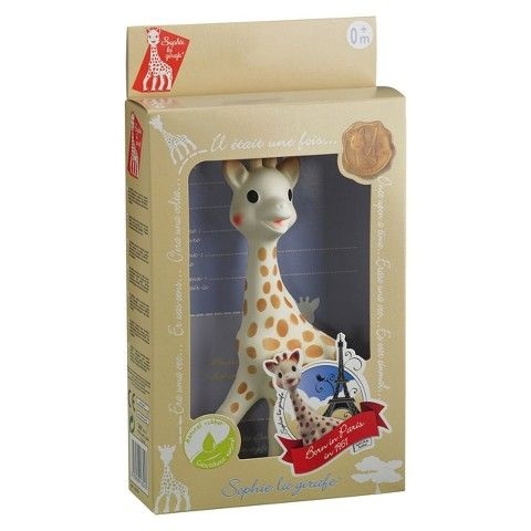 There's a reason Sophie Giraffe has been around more than 50 years. Babies have a magnetic attraction to her. I can't imagine getting through all those months of teething without Sophie! $25 retail (Target/ToysRUs) $14-$20 amazon