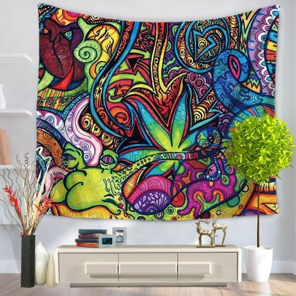 150x130cm Fashion Colorful Flowers Indian Hippie Psychedelic Art Tapestry Wall Hanging Cover Psychedelic Tapestry Mandala Tapestries Wall Hangings Tapestry Wall Hanging