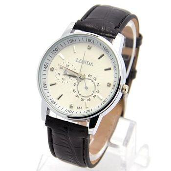 Мода мужская спорт мода высокое качество кожи Strape мужчины кварцевые наручные аналоговые часы наручные часы londa-21