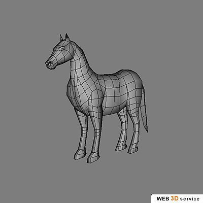 Low poly horse 3D model - click to buy