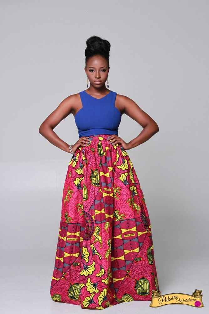 SIMI PATCH MAXI SKIRT ...