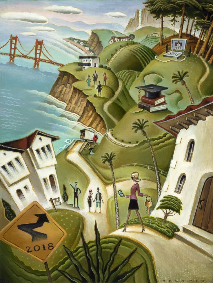 Real Estate Trends. Illustrated by Tim Zeltner. Represented by i2i Art Inc. #i2iart