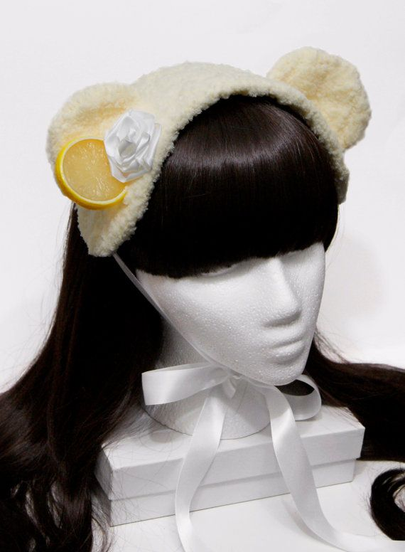 Sweet Lemon Sherbet Ice Cream Bear Gothic and by SheenasBellaBows, $35.00