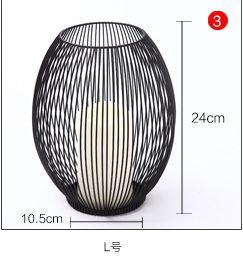 European Mediterranean Iron Cage Lantern Candleholder