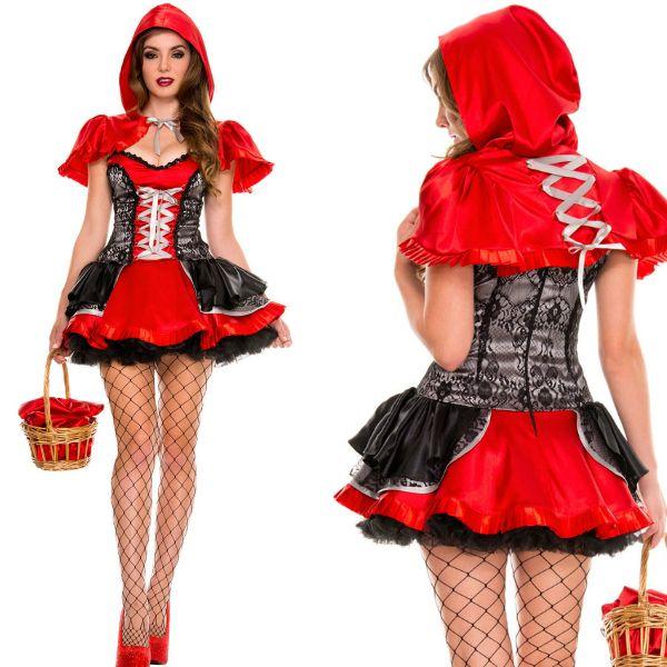 Nova chegada Halloween trajes de alta qualidade Burlesque beleza feminina Sexy Fiery LiL Red O38340(China (Mainland))